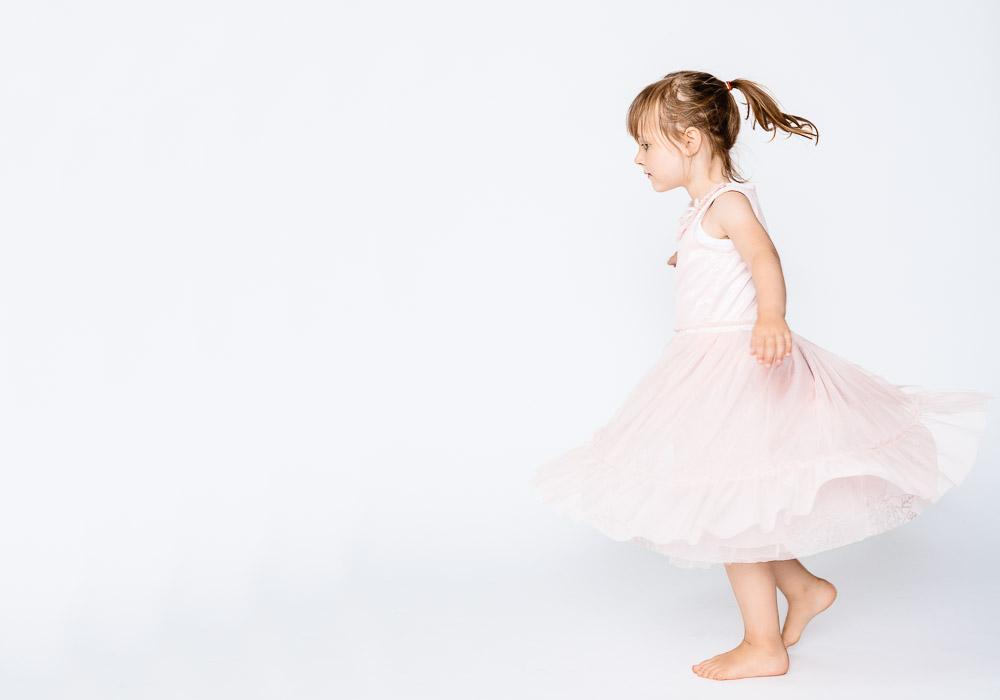 Kinderfoto, Mädchen mit Tütü