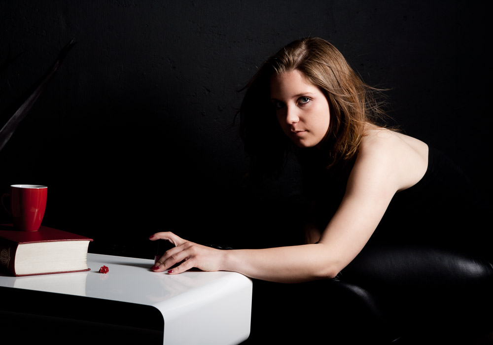 Portraitfoto von Frau, fotografiert vom Fotograf/Fotostudio