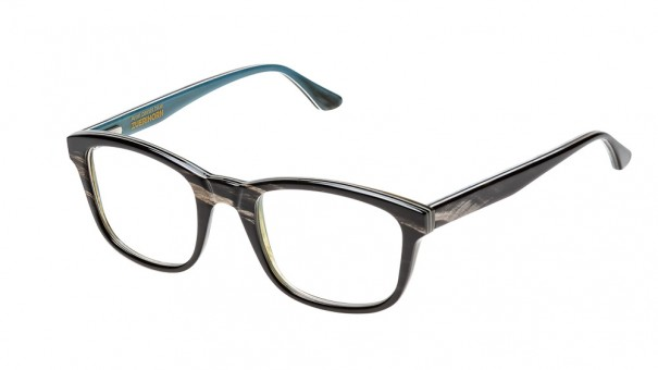 elhornbrille Zürihorn schwarz freigestellt vor weissem hintergrund