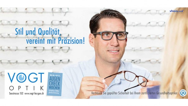 Plakatkampagne, Portraitfotos von Mann mit Brille, fotografiert vom Fotograf/Fotostudio